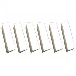 6 Spugnette abrasive bianche